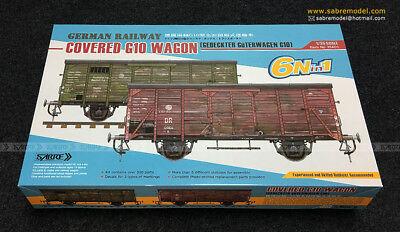 GERMAN RAILWAY COVERED G10 WAGON - Sabre Model - 1/35 Sabre-10