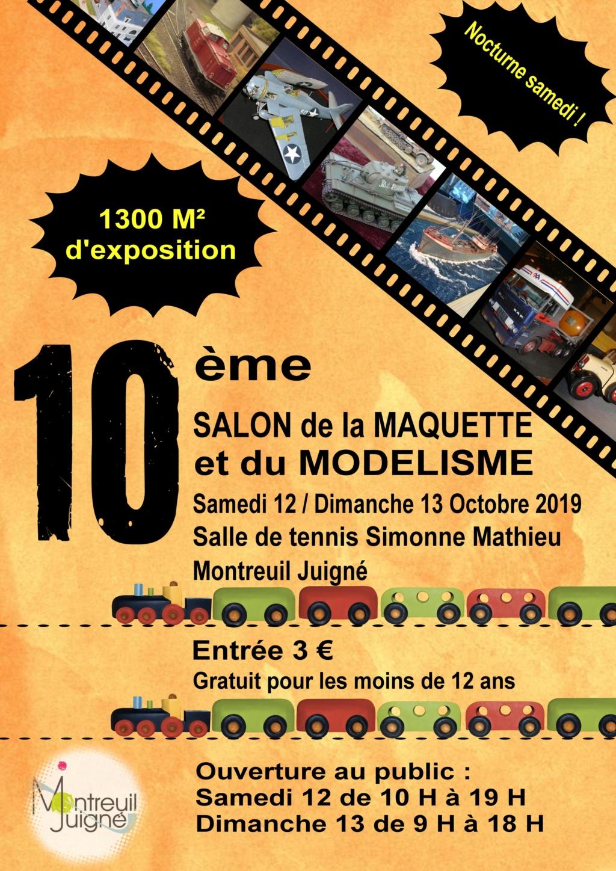 10 ème salon de la maquette et du modélisme Montreuil juigné ( Angers ) Affich10