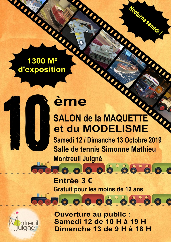 Salon de la maquette et du modélisme 12/13 Octobre 2017 Angers Affich11
