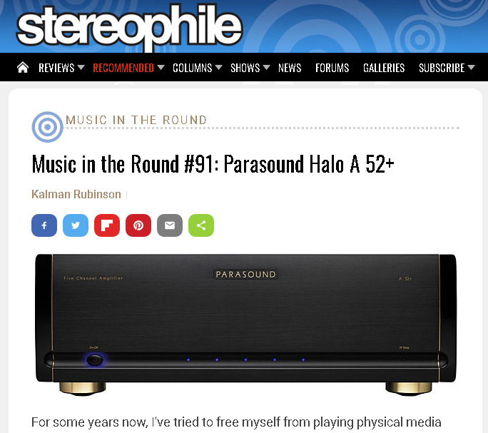 Parasound Halo A52+ Five-Channel Power Amplifier 10056210