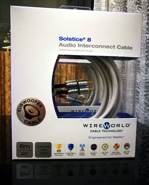 WireWorld Solstice 8 Subwoofer Interconnect Cable 4M / 6M 111