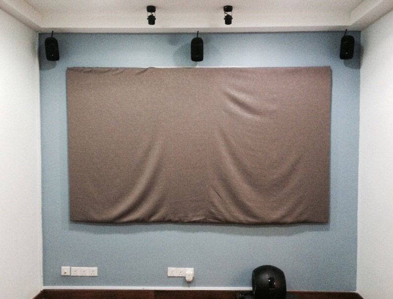 "GRANDVIEW Large-Flat Prestige Fixed Frame Screen 16:9, 106"" WHITE (Display Set) Grandv10"