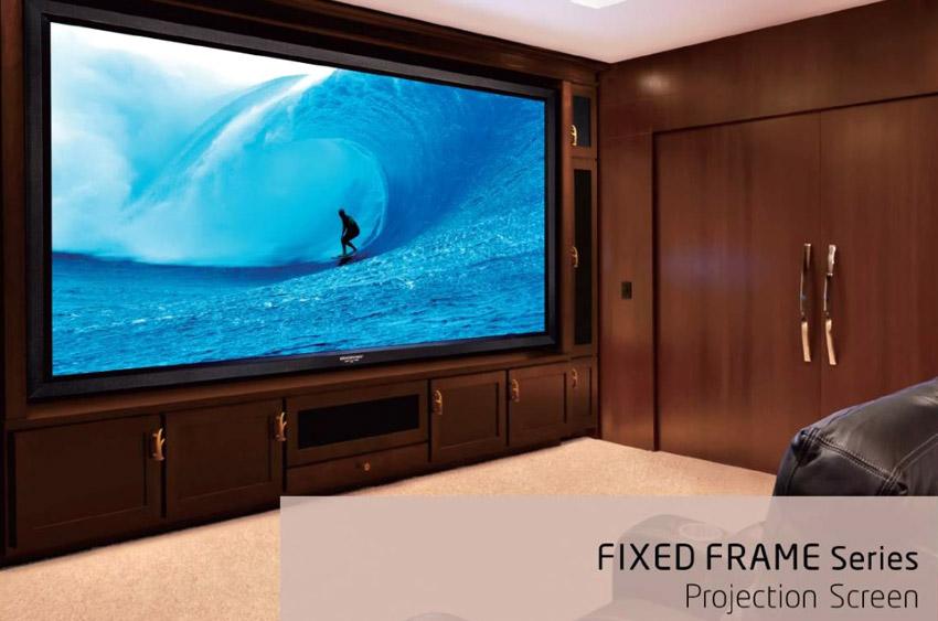 "GRANDVIEW Large-Flat Prestige Fixed Frame Screen 16:9, 106"" WHITE (Display Set) Large-10"