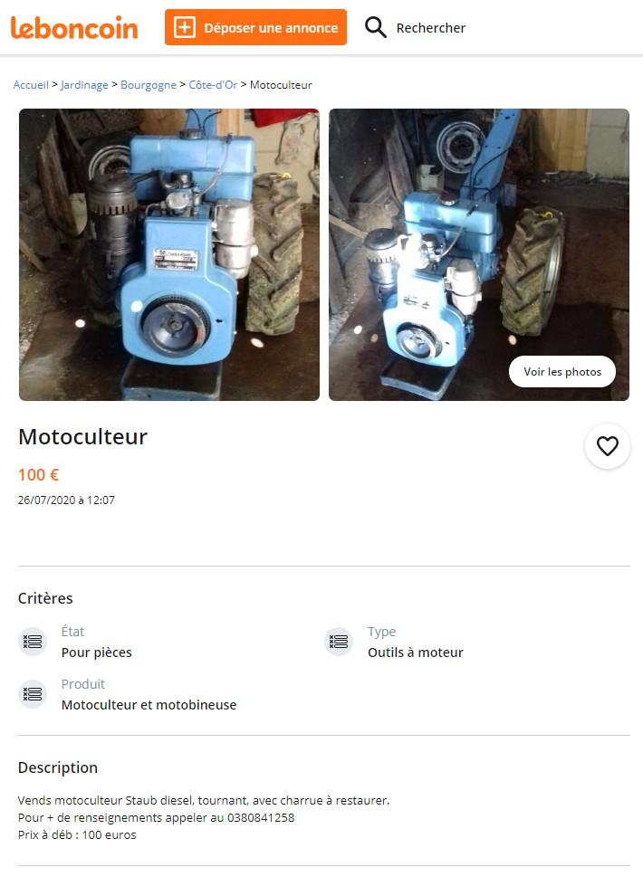 Annonce DESACTIVEE  Staub Diesel peu cher en Côte d'Or  Staubd13