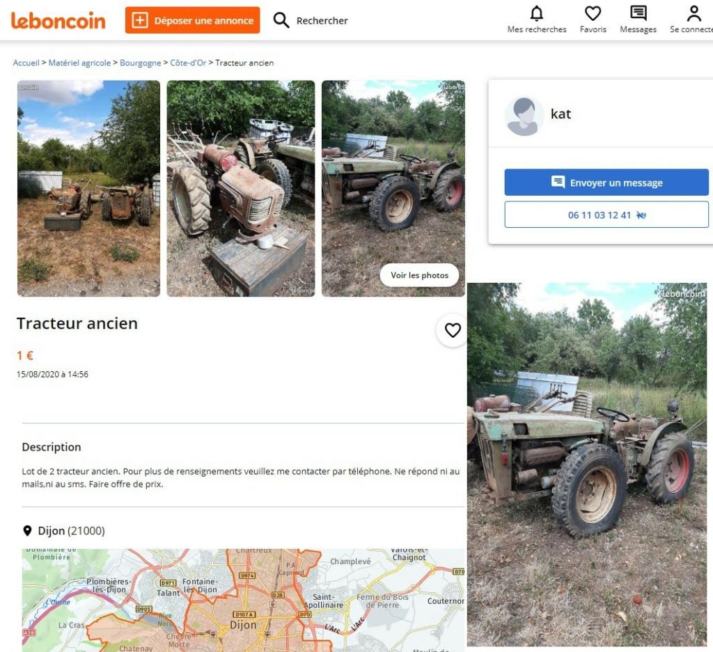TRACTEUR -  Annonce DESACTIVEE  tracteur articulé et ancien motoc  Tracte11