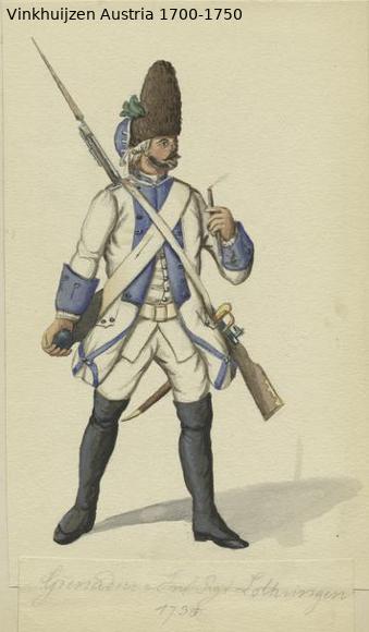Austrian Uniforms Vinkhuijzen collection NYPL Austr101