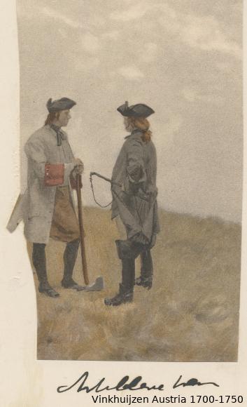 Austrian Uniforms Vinkhuijzen collection NYPL Austr102