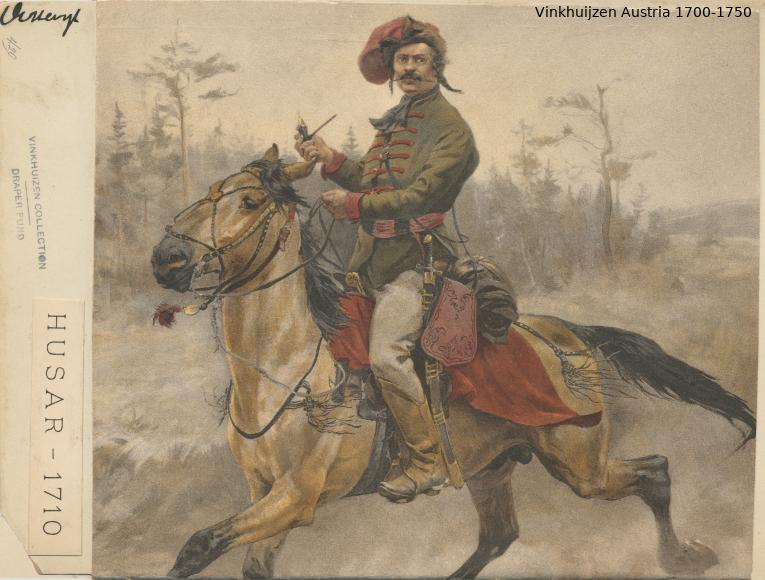 Austrian Uniforms Vinkhuijzen collection NYPL Austr105