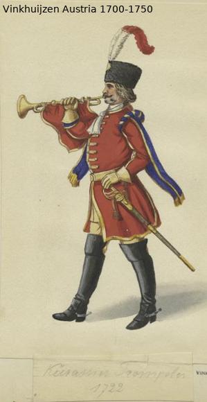 Austrian Uniforms Vinkhuijzen collection NYPL Austr107