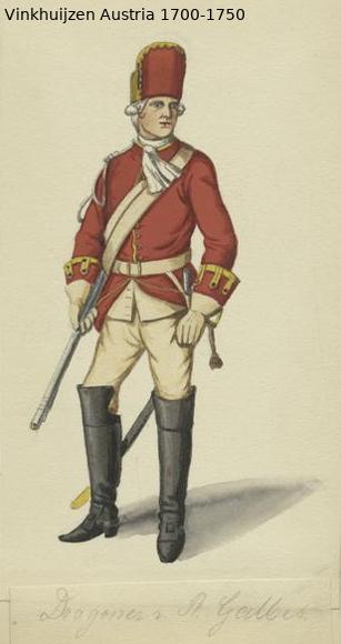 Austrian Uniforms Vinkhuijzen collection NYPL Austr108