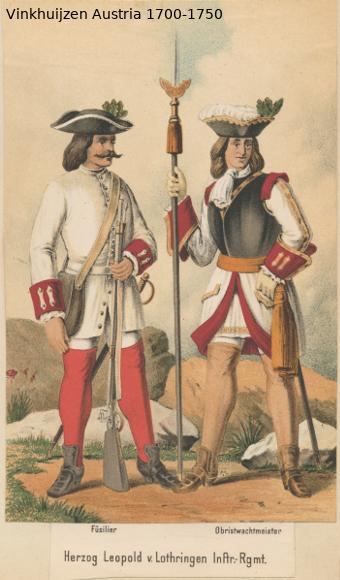 Austrian Uniforms Vinkhuijzen collection NYPL Austr109