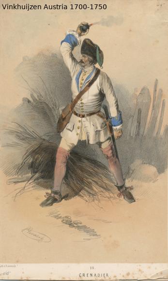 Austrian Uniforms Vinkhuijzen collection NYPL Austr111