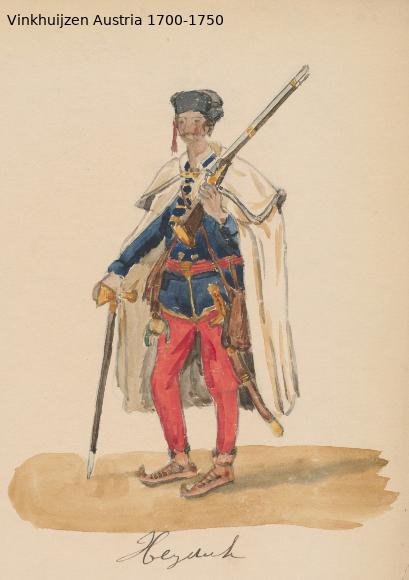 Austrian Uniforms Vinkhuijzen collection NYPL Austr112