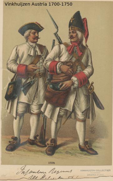 Austrian Uniforms Vinkhuijzen collection NYPL Austr115