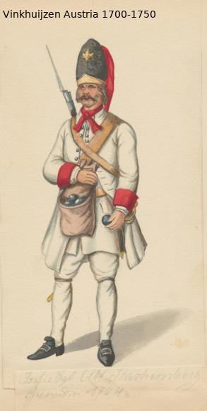 Austrian Uniforms Vinkhuijzen collection NYPL Austr117