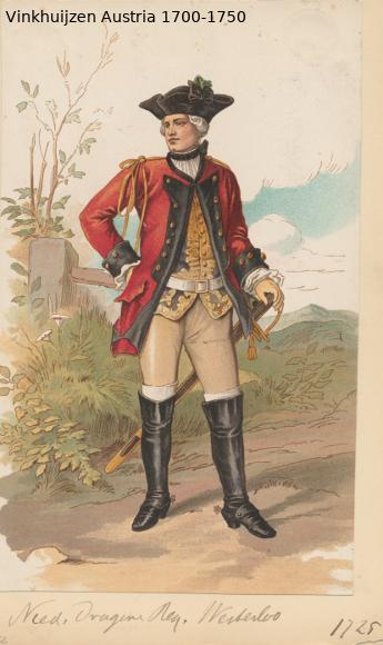 Austrian Uniforms Vinkhuijzen collection NYPL Austr118