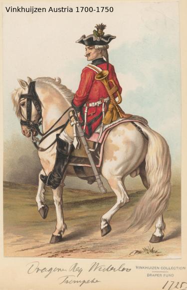 Austrian Uniforms Vinkhuijzen collection NYPL Austr119