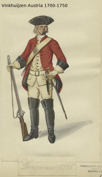 Austrian Uniforms Vinkhuijzen collection NYPL Austr121