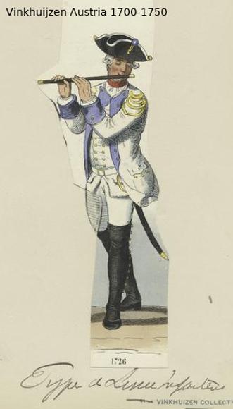 Austrian Uniforms Vinkhuijzen collection NYPL Austr122
