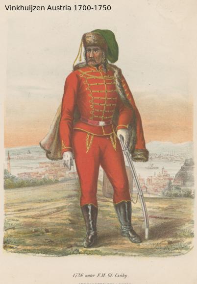 Austrian Uniforms Vinkhuijzen collection NYPL Austr123