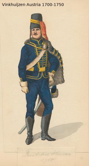 Austrian Uniforms Vinkhuijzen collection NYPL Austr124