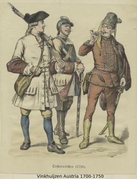 Austrian Uniforms Vinkhuijzen collection NYPL Austr125
