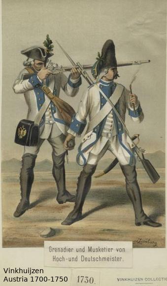 Austrian Uniforms Vinkhuijzen collection NYPL Austr127