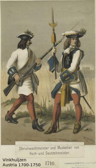 Austrian Uniforms Vinkhuijzen collection NYPL Austr128