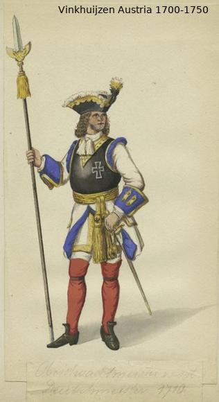 Austrian Uniforms Vinkhuijzen collection NYPL Austr129