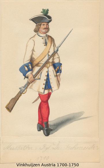 Austrian Uniforms Vinkhuijzen collection NYPL Austr130