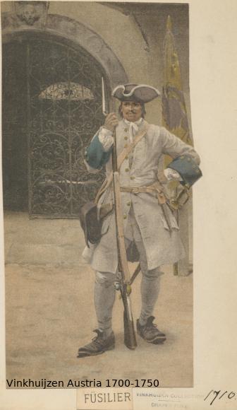 Austrian Uniforms Vinkhuijzen collection NYPL Austr131
