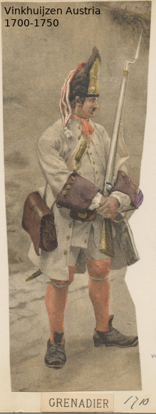 Austrian Uniforms Vinkhuijzen collection NYPL Austr132