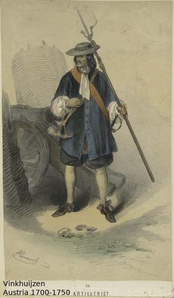 Austrian Uniforms Vinkhuijzen collection NYPL Austr134