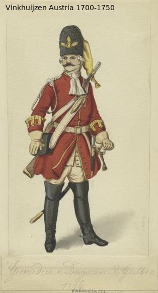 Austrian Uniforms Vinkhuijzen collection NYPL Austr135