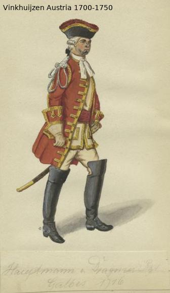 Austrian Uniforms Vinkhuijzen collection NYPL Austr136