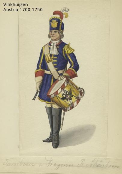 Austrian Uniforms Vinkhuijzen collection NYPL Austr137