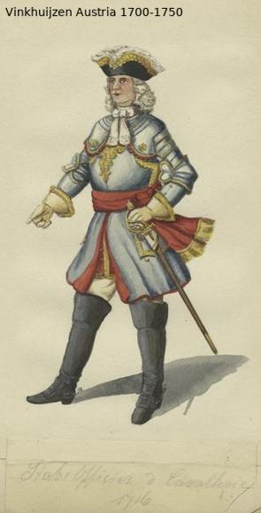 Austrian Uniforms Vinkhuijzen collection NYPL Austr138