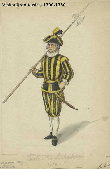 Austrian Uniforms Vinkhuijzen collection NYPL Austr139