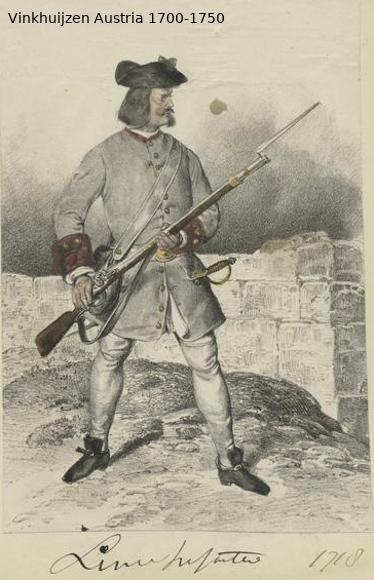 Austrian Uniforms Vinkhuijzen collection NYPL Austr141