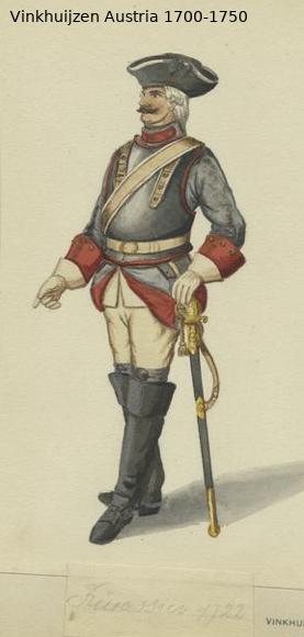 Austrian Uniforms Vinkhuijzen collection NYPL Austr143