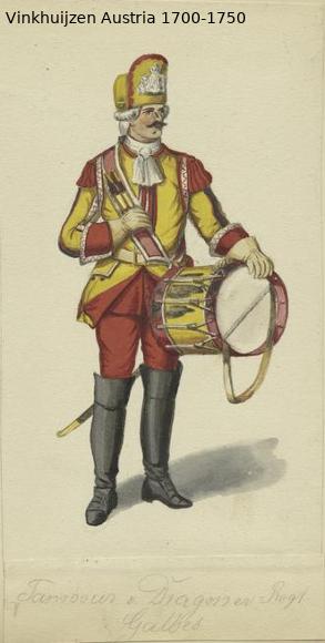 Austrian Uniforms Vinkhuijzen collection NYPL Austr146