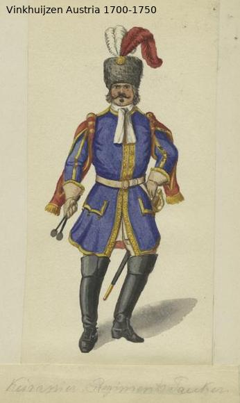 Austrian Uniforms Vinkhuijzen collection NYPL Austr147