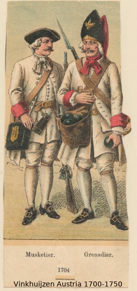 Austrian Uniforms Vinkhuijzen collection NYPL Austr150