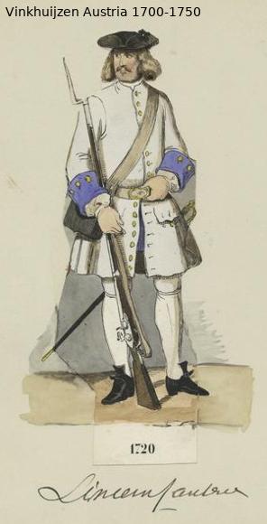 Austrian Uniforms Vinkhuijzen collection NYPL Austr151