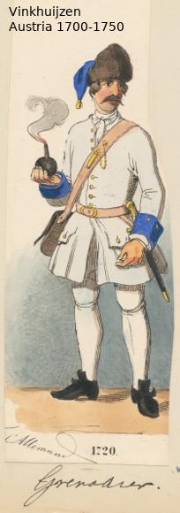 Austrian Uniforms Vinkhuijzen collection NYPL Austr152