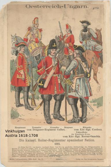 Austrian Uniforms Vinkhuijzen collection NYPL Austri10