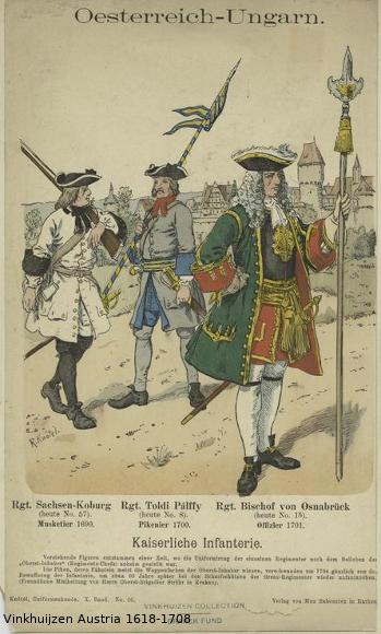 Austrian Uniforms Vinkhuijzen collection NYPL Austri11