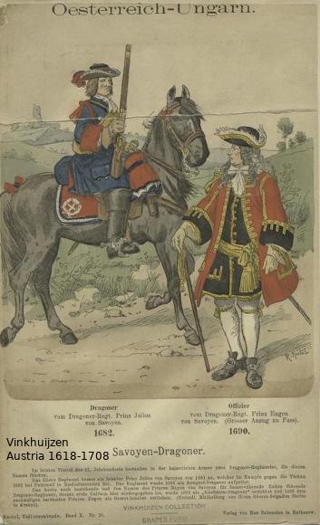 Austrian Uniforms Vinkhuijzen collection NYPL Austri12