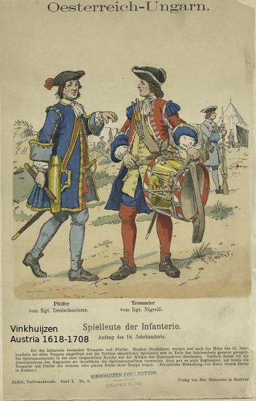 Austrian Uniforms Vinkhuijzen collection NYPL Austri22