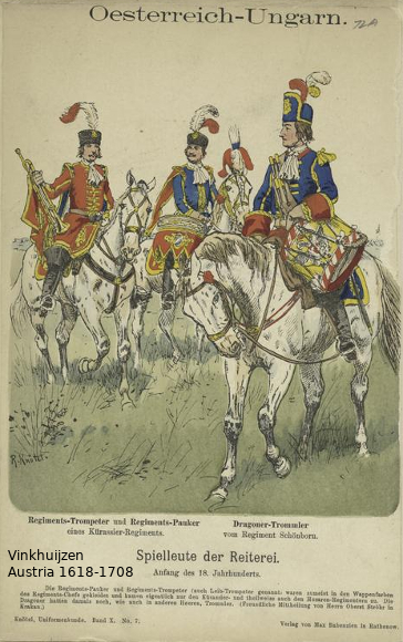 Austrian Uniforms Vinkhuijzen collection NYPL Austri23
